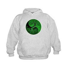 Green and Black Yin Yang Tree Hoodie