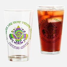 Fleur de Laissez Drinking Glass