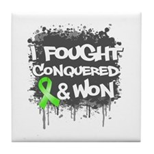 Lymphoma I Fought Won Tile Coaster