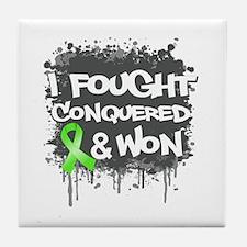 Lymphoma I Fought Won Tile Coaster