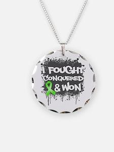 Lymphoma I Fought Won Necklace Circle Charm