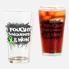 Lymphoma I Fought Won Drinking Glass