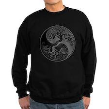 Grey and Black Yin Yang Tree Sweatshirt