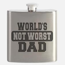 Worlds Not Worst Dad Flask