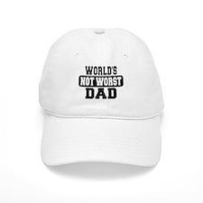 Worlds Not Worst Dad Baseball Baseball Cap
