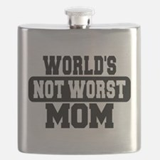 Worlds Not Worst Mom Flask