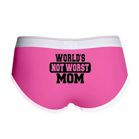 Worlds Not Worst Mom Women's Boy Brief