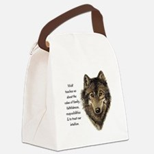 Wolf Totem Animal Guide Watercolor Nature Art Canv