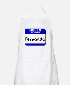 hello my name is fernando  BBQ Apron