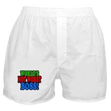 Worlds Not Worst Boss Boxer Shorts