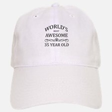 World's Most Awesome 35 Year Old Baseball Baseball Cap
