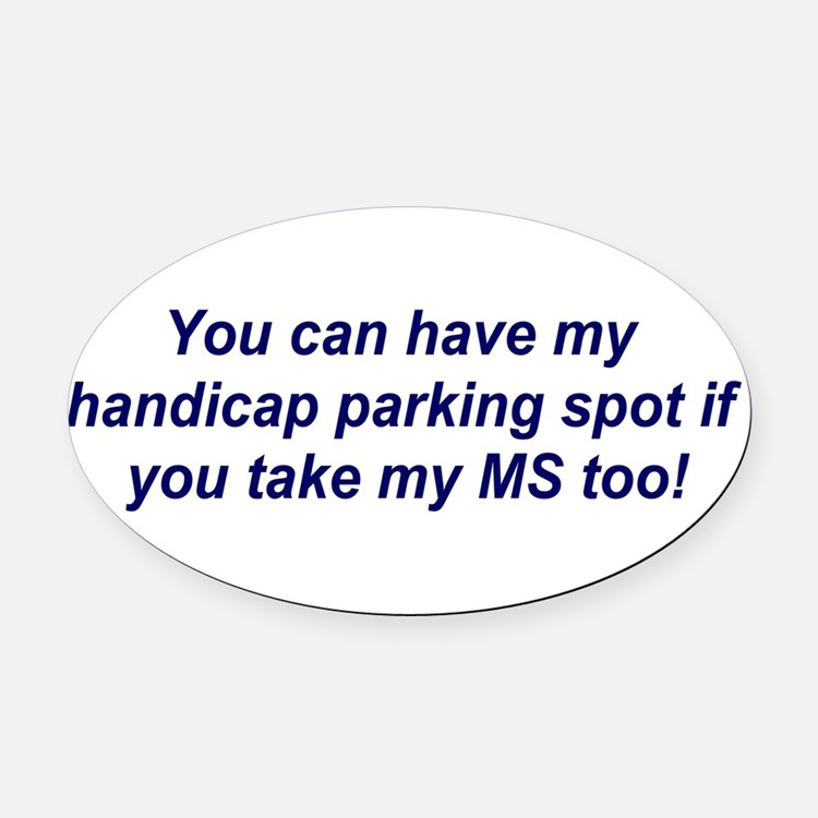 Cute Ms awareness Oval Car Magnet