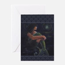Mermaid and the Moon Greeting Cards