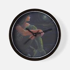 Mermaid and the Moon Wall Clock