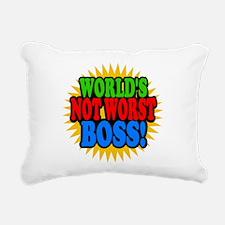 Worlds Not Worst Boss Rectangular Canvas Pillow