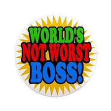 """Worlds Not Worst Boss 3.5"""" Button"""