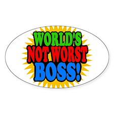 Worlds Not Worst Boss Decal
