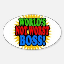 Worlds Not Worst Boss Decal