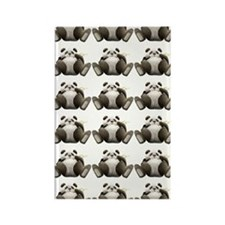 Lots Of Lazy Pandas! Rectangle Magnet