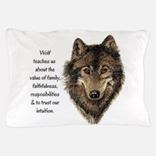 Wolf Totem Animal Guide Watercolor Nature Art Pill