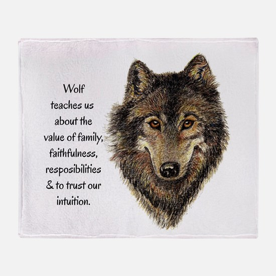 Wolf Totem Animal Guide Watercolor Nature Art Thro
