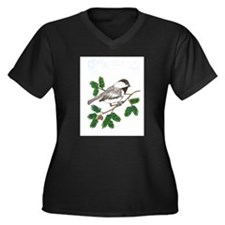 chickadee in a tree Plus Size T-Shirt