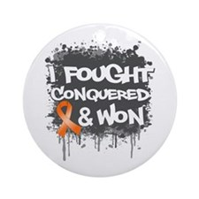 Leukemia I Fought and Won Ornament (Round)