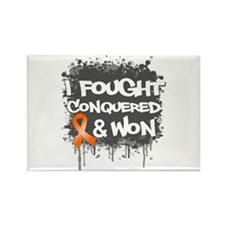 Leukemia I Fought and Won Rectangle Magnet