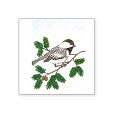 chickadee in a tree Sticker