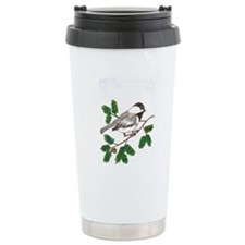 chickadee in a tree Travel Mug