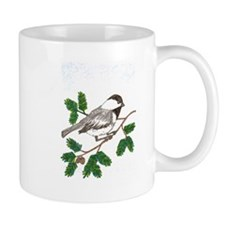 chickadee in a tree Mugs