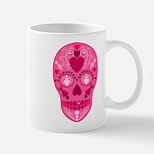 Pink Hearts Sugar Skull Mug