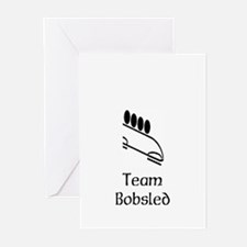 Team Bobsled Black Greeting Cards (Pk of 10)