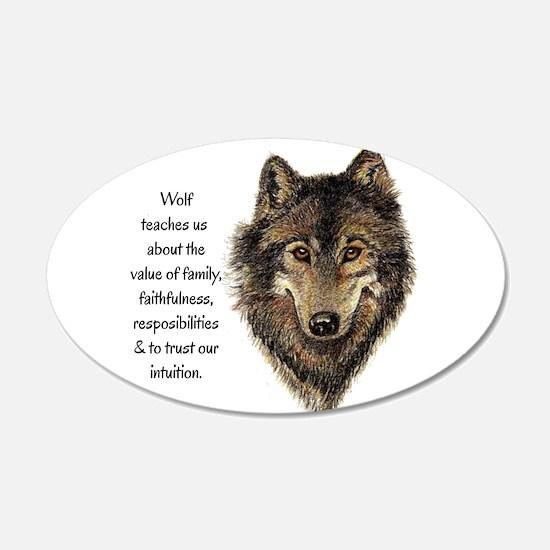Wolf Totem Animal Guide Watercolor Nature Art Deca