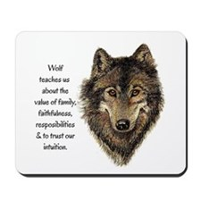 Wolf Totem Animal Guide Watercolor Nature Art Mous