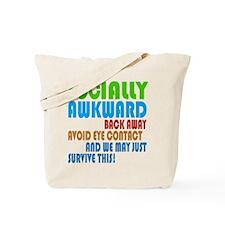 Socially Awkward Text Tote Bag