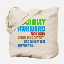 Socially Awkward Text Tote Bag