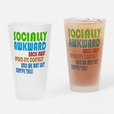 Socially Awkward Text Drinking Glass