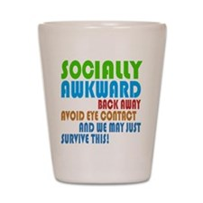 Socially Awkward Text Shot Glass