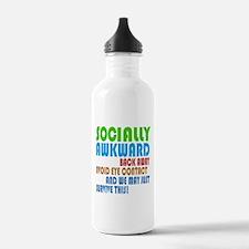 Socially Awkward Text Water Bottle