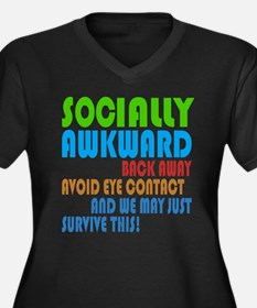 Socially Awkward Text Plus Size T-Shirt