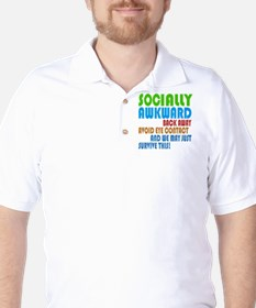 Socially Awkward Text Golf Shirt