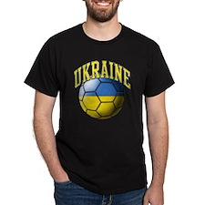 Ukraine Flag Soccer Ball T-Shirt