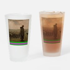 Shepherdess and Her Flock Drinking Glass