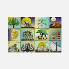 12 Tribes Of Israel Magnets
