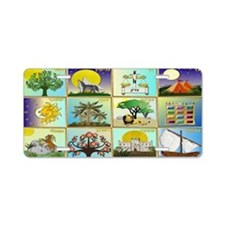 12 Tribes Of Israel Aluminum License Plate