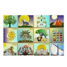 12 Tribes Of Israel Postcards (Package of 8)