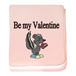 Be My Valentine With Skunk Baby Blanket