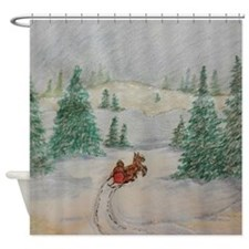 Winter Scenery Shower Curtain Shower Curtain