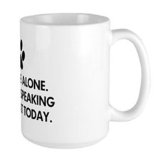 Leave me alone today cat Mug